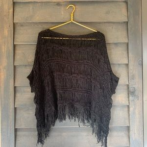 knot sisters crochet fringe poncho